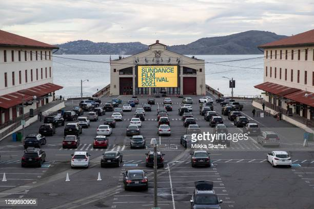 View of Fort Mason Center during the 2021 Sundance Film Festival's satellite screening series arranged by Roxie Theater on January 31, 2021 in San...