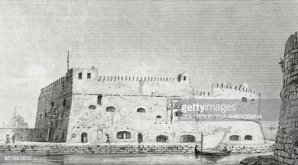 View of Fort St Angelo on the island of Malta where the Roman expedition to Egypt dropped anchor on September 30 engraving from L'album giornale...