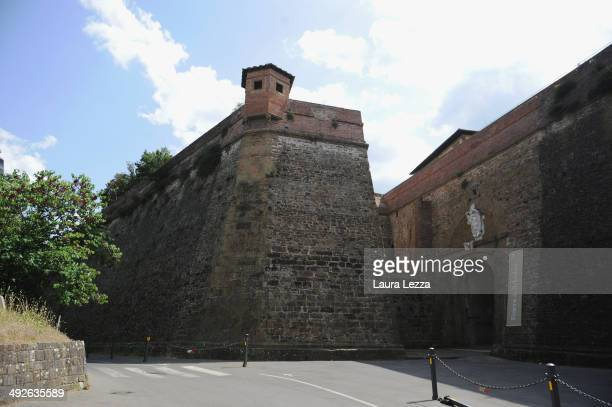 A view of Forte Belvedere is seen while preparations are underway for Kim Kardashian and Kanye West's Wedding Party on May 21 2014 in Florence Italy