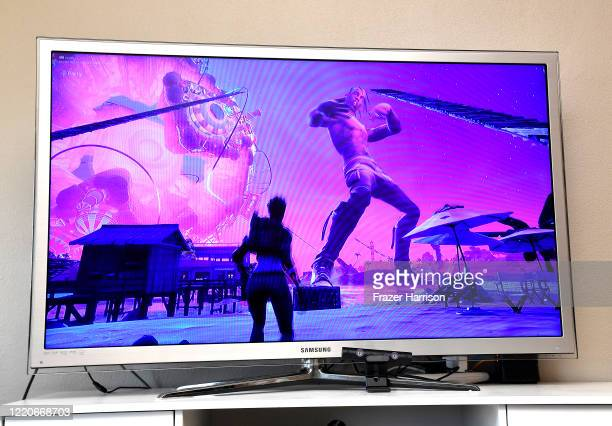 A view of Fortnite featuring Travis Scott Presents Astronomical on April 23 2020 in Los Angeles United States Travis Scott Cactus Jack have partnered...