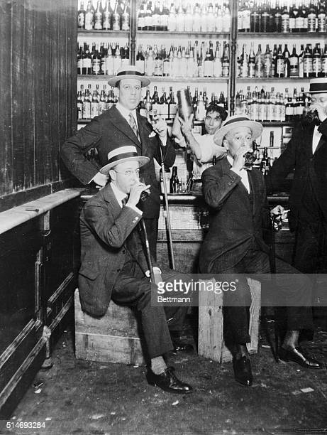 View of four men drinking at the Speakeasy Bar Undated photograph