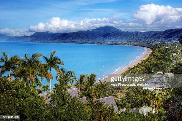 View of Four Mile Beach, Port Douglas, Cairns, Far North Queensland, Australia