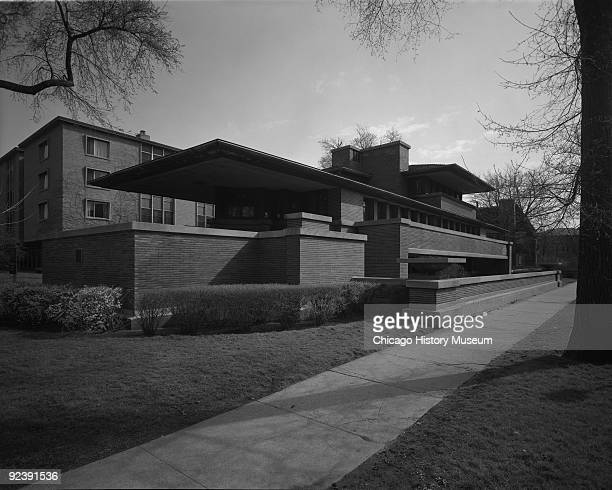 View of Frank Lloyd Wright's Robie House completed in 1910 Chicago IL 1973