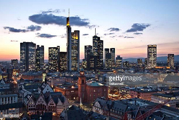 view of frankfurt - frankfurt stock pictures, royalty-free photos & images