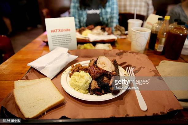 A view of Franklin Barbecue during the 2016 SXSW Music Film Interactive Festival on March 16 2016 in Austin Texas