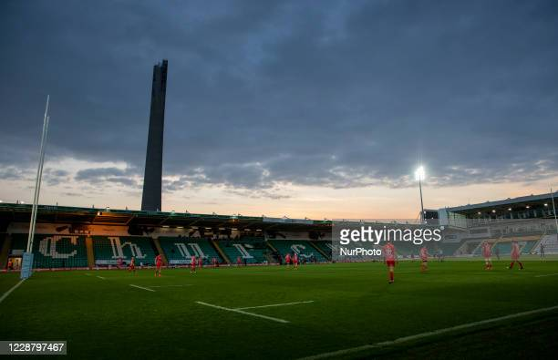 View of Franklins Gardens during the Gallagher Premiership match between Northampton Saints and Sale Sharks at Franklin's Gardens Northampton