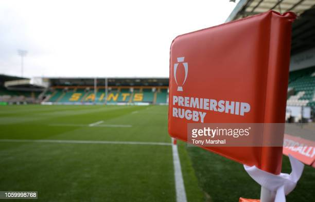 View of Franklins Gardens, home of Northampton Saints ahead of the Premiership Rugby Cup match between Northampton Saints and Bristol Rugby at...