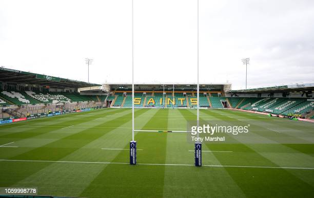 A view of Franklins Gardens home of Northampton Saints ahead of the Premiership Rugby Cup match between Northampton Saints and Bristol Rugby at...