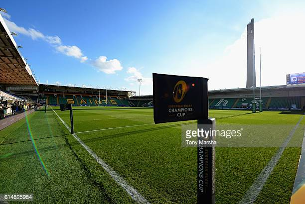 A view of Franklin's Gardens home of Northampton Saints during the European Rugby Champions Cup match between Northampton Saints and Montpellier at...