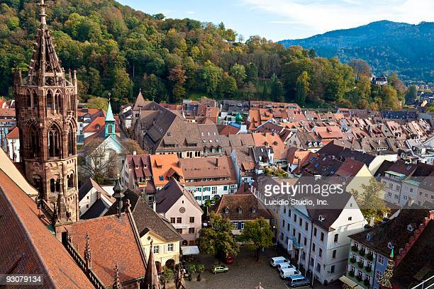 View of Freiberg from the Frieburg Minster Germany