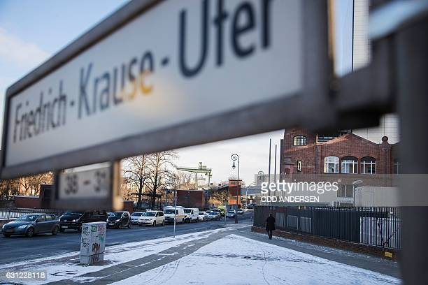 A view of FriedrichKrauseUfer street in Berlin on January 6 where Anis Amri the Tunisian man who drove a truck into a crowded Christmas market on...