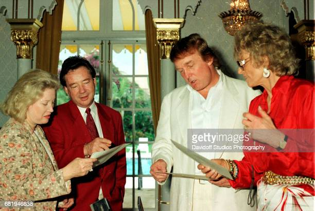 View of, from left, American banker Elizabeth Trump Grau, her husand, film producer James Grau, her brother, real estate developer Donald Trump, and...