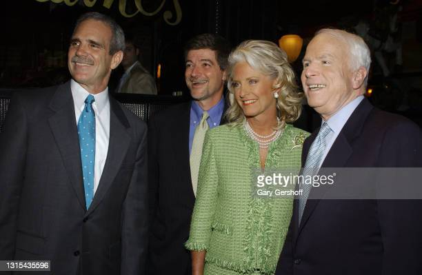 View of, from left, Gruner & Jahr CEO Russell Denson, Fast Company Editor-in-Chief John Byrne, and married couple, Cindy McCain and politician & US...