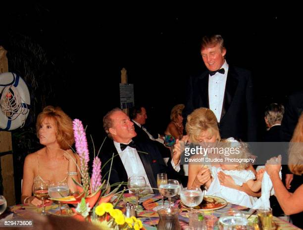 View of from left married couple television host Kathie Lee Gifford and sports broadcaster former football player Frank Gifford and married couple...