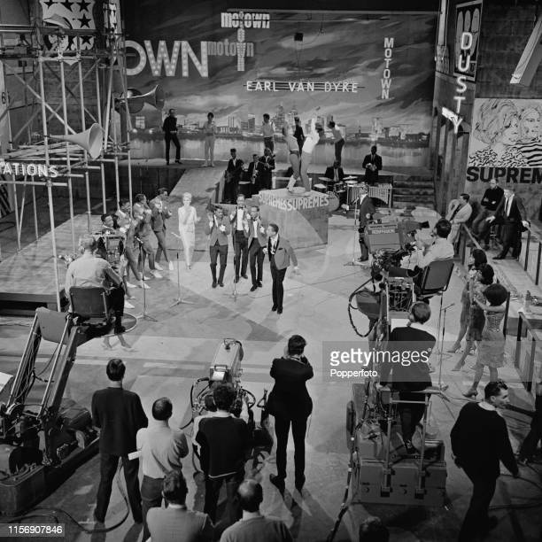View of from left members of Martha Reeves and the Vandellas The Temptations Dusty Springfield Smokey Robinson and the Miracles Stevie Wonder and The...