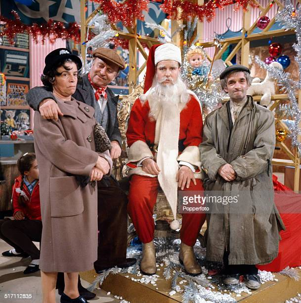 View of from left to right Patricia Hayes Arthur Haynes Nicholas Parsons and Dermot Kelly on the set of the television comedy 'The Arthur Haynes...