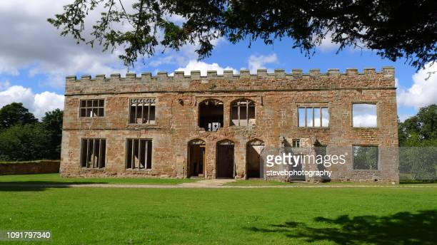 view of front of astley castle - stevebphotography stock pictures, royalty-free photos & images