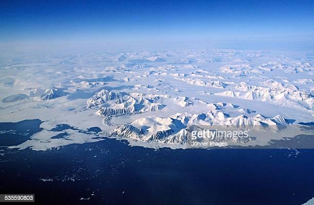 View of frozen coast