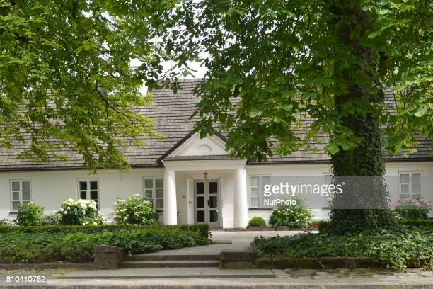 A view of Fryderyk Chopin's birthplace surrounded by a park a museum devoted to the composer located in a small village of Zelazowa Wola 46km west of...
