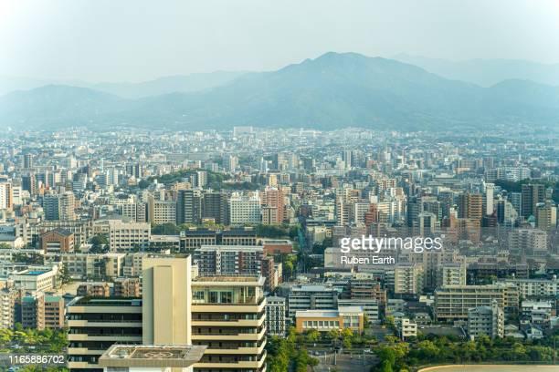 view of fukuoka city in day light - 福岡県 ストックフォトと画像
