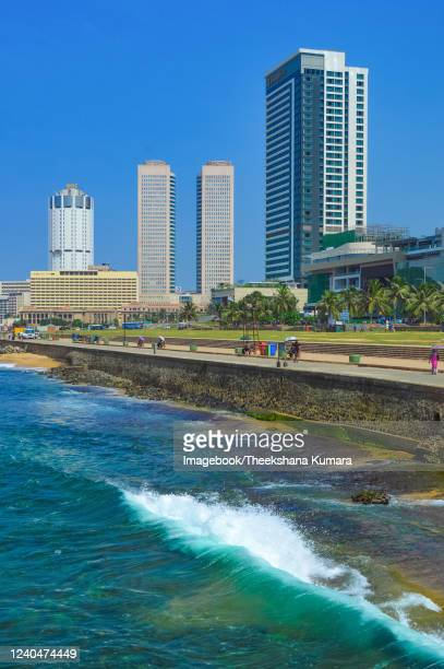 view of galle face beach, colombo. - imagebook stock pictures, royalty-free photos & images