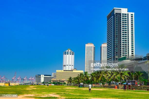 view of galle face green, colombo. - imagebook stock pictures, royalty-free photos & images