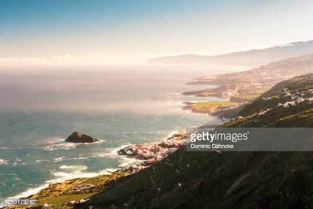 View of Garachico town and north Tenerife's coast (Canary Islands, Spain)