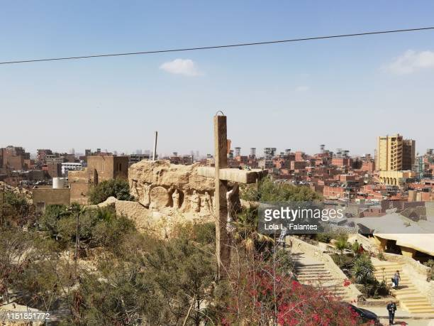 "View of ""garbage city"" from The Cave Churchin Cairo"