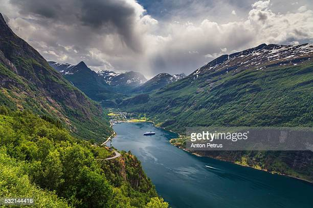 View of Geiranger Fjord. Norway