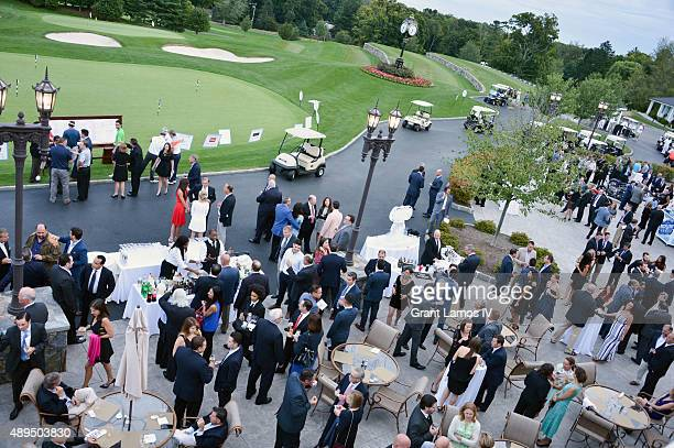 A view of general atmosphere at the 9th Annual Eric Trump Foundation Golf Invitational Auction Dinner at Trump National Golf Club Westchester on...