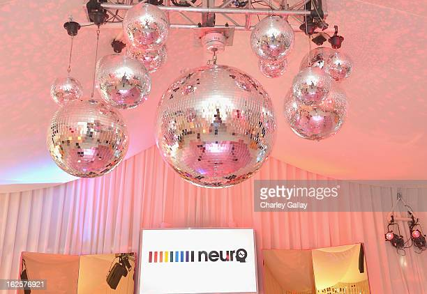 A view of general atmosphere at the Neuro at 21st Annual Elton John AIDS Foundation Academy Awards Viewing Party at West Hollywood Park on February...
