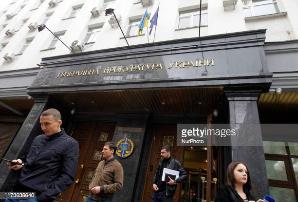 View of General Prosecutors Office in Kyiv, Ukraine, on 4 October, 2019. Prosecutor General of Ukraine Ruslan Ryaboshapka said during his a...