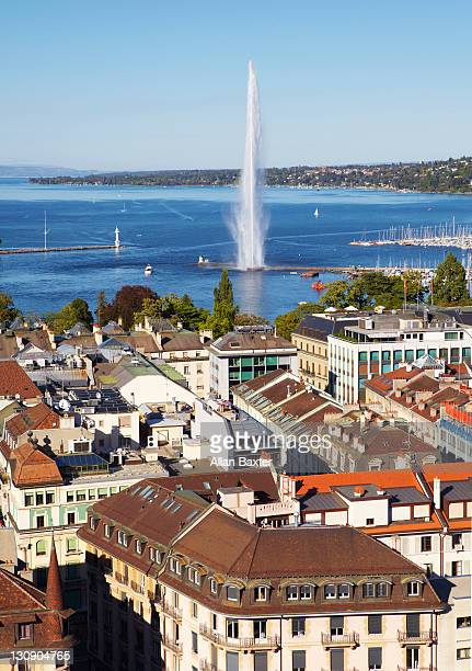 View of Geneva and 'Jet d'Eau'