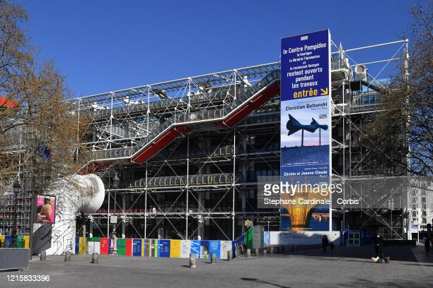 View of George Pompidou center during the Coronavirus epidemic on March 30, 2020 in Paris, France. The country is fining people caught in violation...