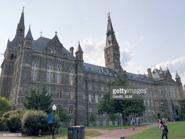 View of Georgetown University campus in the Georgetown neighborhood of Washington DC on August 19 2018
