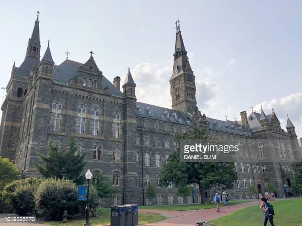 View of Georgetown University campus in the Georgetown neighborhood of Washington, D.C. On August 19, 2018.