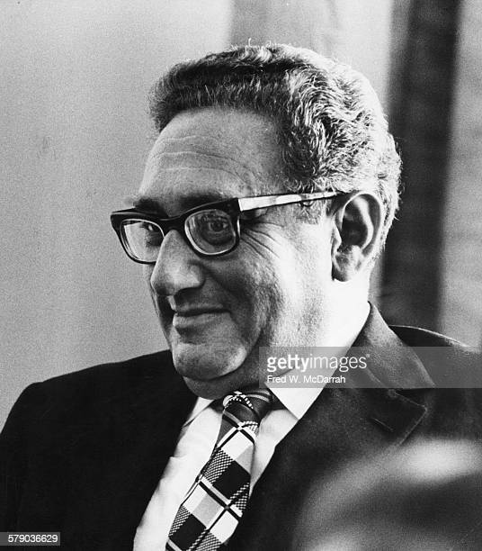 View of Germanborn American diplomat and US Secretary of State Henry Kissinger New York New York September 14 1974 Kissinger was in the city to meet...