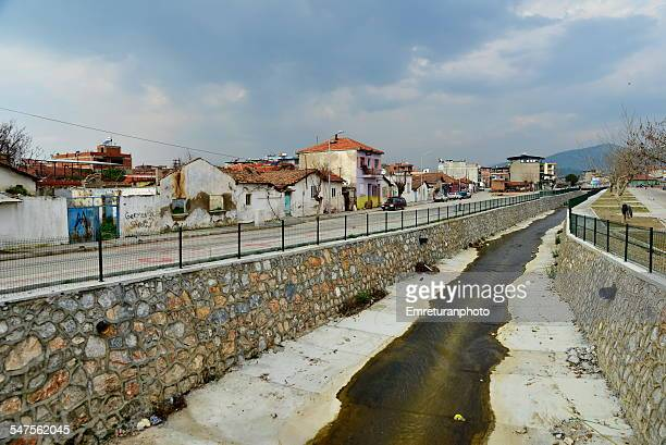view of germencik creek - emreturanphoto stock pictures, royalty-free photos & images