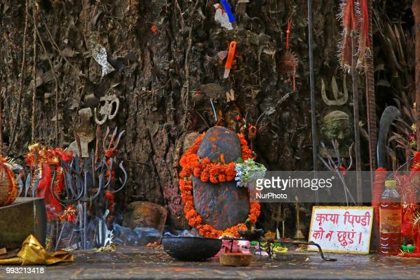A view of Ghatotkach tree temple near historical Hadimba temple in Manali town Himachal Pradesh India on 6th July2018Ghatotkacha is a character in...
