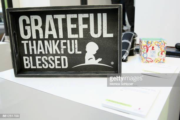 A view of gifts as St Jude Children's Research Hospital hosts the #GiveThanks Holiday PopUp for #GivingTuesday on November 28 2017 in New York City