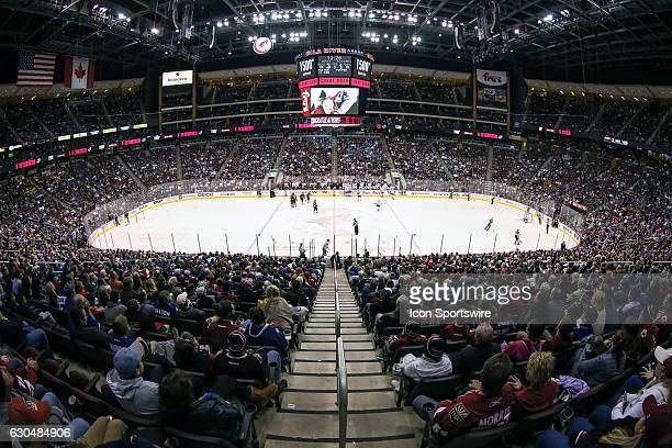 A view of Gila River Arena during the NHL hockey game between the Toronto Maple Leafs and the Arizona Coyotes on December 23 2016 at Gila River Arena...