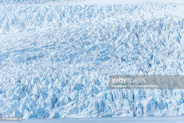 view of glacier in iceland - バトナ氷河 ストックフォトと画像