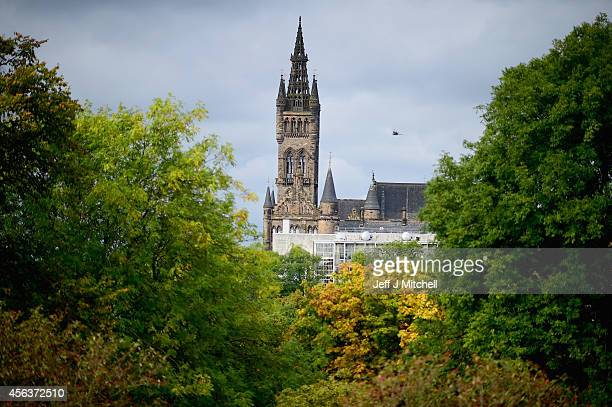 View of Glasgow University tower from Kelvingrove Park on September 30, 2014 in Glasgow, Scotland. The country is set to be the driest September...