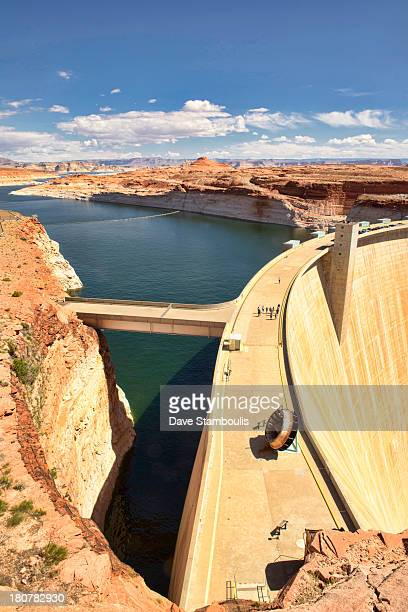 View of Glen Canyon Dam and Lake Powell, Page, Arizona