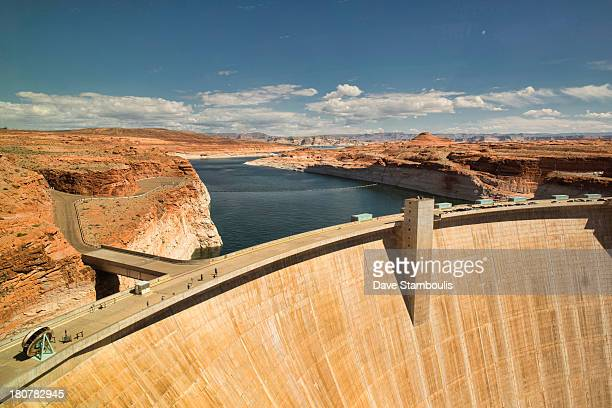 CONTENT] view of Glen Canyon Dam and Lake Powell Page Arizona