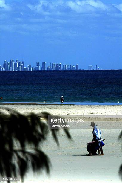 View of gold coast skyline from burleigh heads