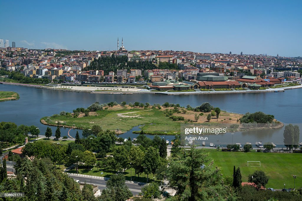 View of Golden Horn from Pierre Loti Hill : Foto de stock