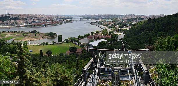 view of golden horn - emreturanphoto stock pictures, royalty-free photos & images
