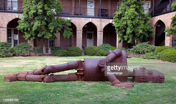 View of Goldie , an outdoor art installation on the grounds of the University of Alabama, Tuscaloosa, Alabama, 2010.