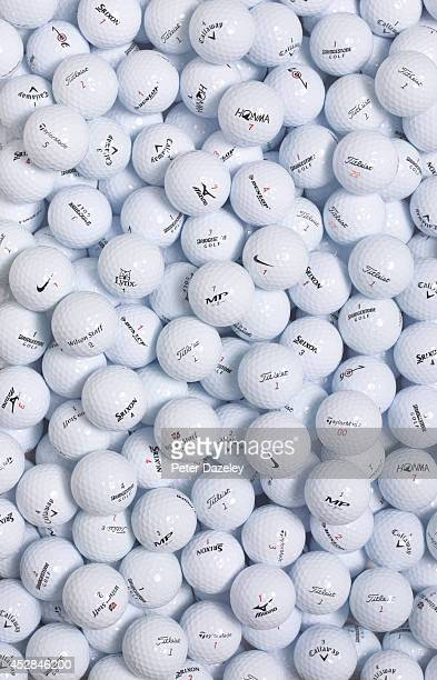 A view of Golf balls on July 2014 in LondonEngland